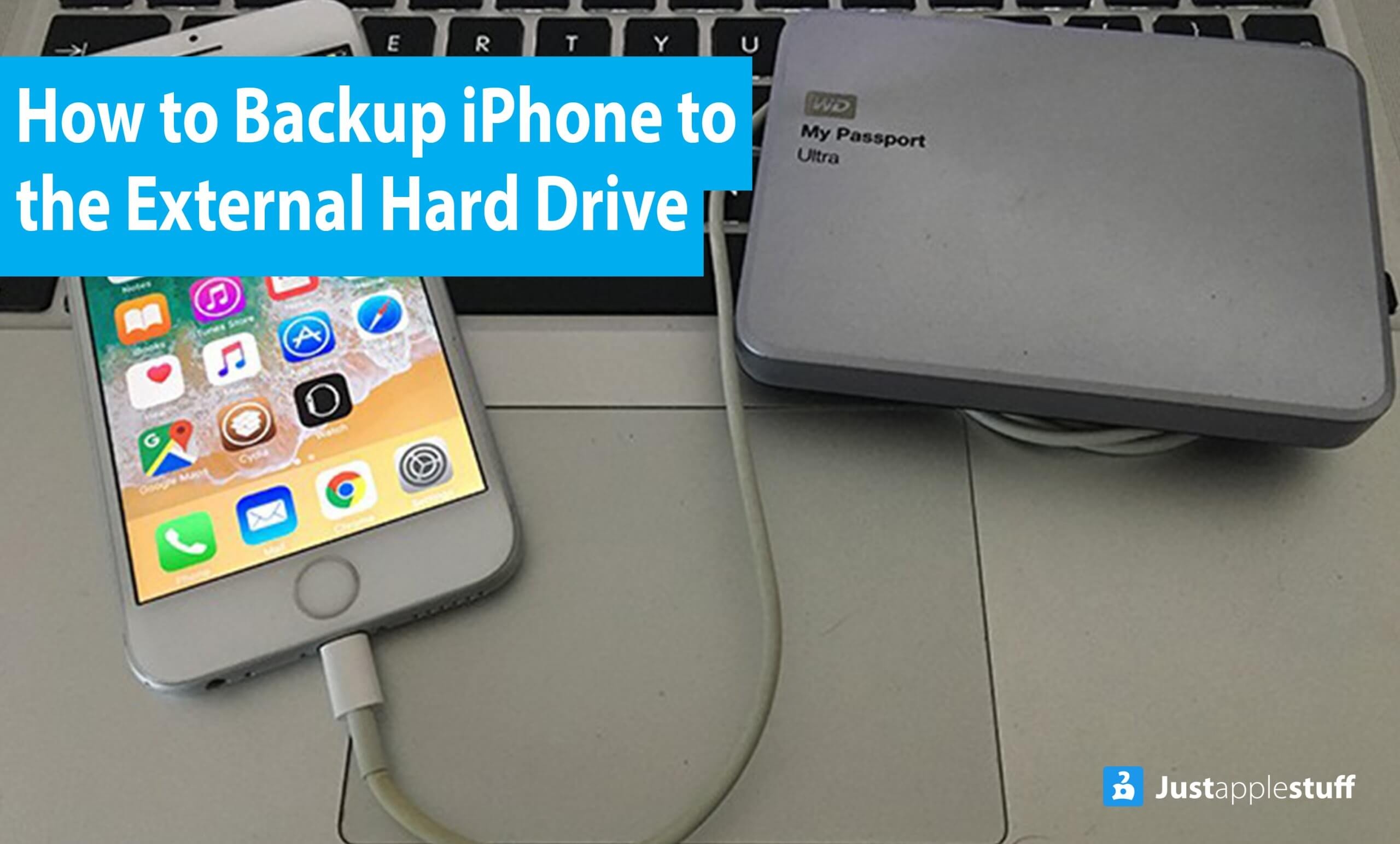 How to backup iPhone to the external hard drive